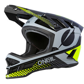 O'Neal Blade Polyacrylite Helm Delta, black/neon yellow/gray
